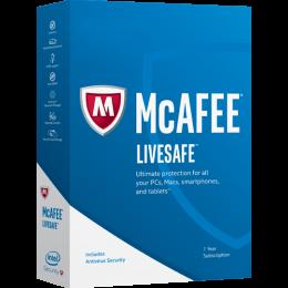 Totaalbeveiliging: McAfee LiveSafe Onbeperkt 1 jaar